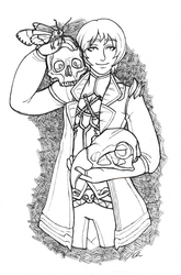 OCtober Day 5 - Skeletons and Skulls by shuufly