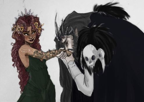Hades And Persephone by yip-yop
