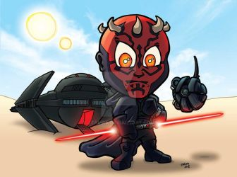 Darth Maul and Infiltrator by JTampa