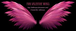 Pink Valentine Fractal Wings by mkbrouse