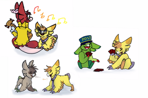 Some friendos by Cloakatta