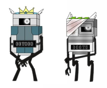 Kether and Daath (Robot form) by mihopony