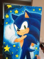 Sonic painting by AngelofHapiness