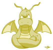 Iris' Dragonite Morning doodle by Adam-Clowery