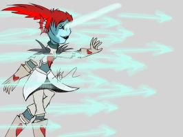 Undyne the undying (sketch this challenge) by Rosie-draws-art