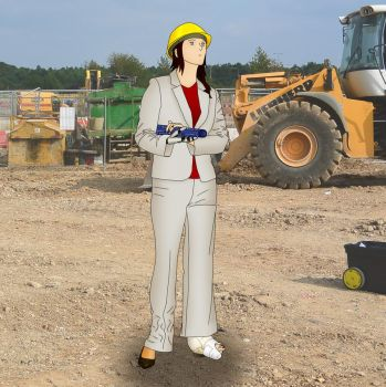 Carla on the construction site by sharkycast