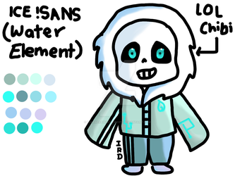 Element Tale: Ice! Sans by InsaneRainbowDrops