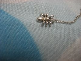silver spider on a chain by bobblehead-kate