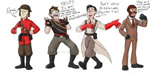 TF2/COD Zombies - Request for AustraliumSiren by EnvyQ00