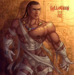 The Mummy Lucian by blueglueclue