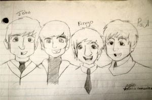 The Beatles by veroveroable