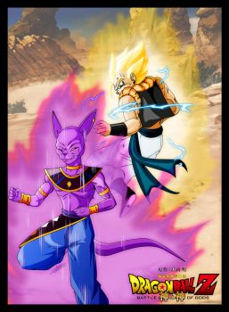 Gogeta vs Beerus dragon ball oav 2013 by ChibiDamZ
