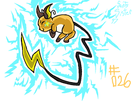 #026 Raichu by SaintsSister47