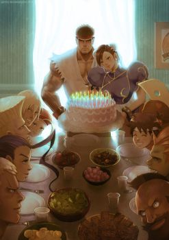 Street Fighter 25th Anniversary tribute by jaimito