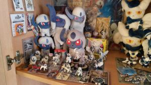 My Absol collection! by HorrorKittey