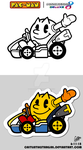 .:What if: Pac-Man x Mario Kart 8 Deluxe:. by CaitlinTheStarGirl