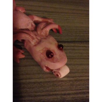 Close up axolotl head. by Itchywitchygirl