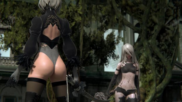 2B and A2 by Pervik