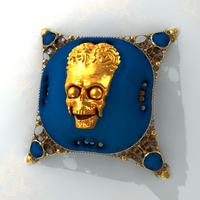 skull on pillow - Mandelbulb3D with Paras and Map by matze2001