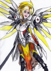 Mercy - Overwatch by DarkStormSeeker