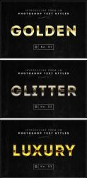 Free Gold Text Styles by ivelt