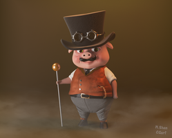 Steampunk Pig by MaryShan