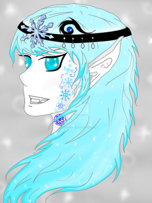 Ice Fey- Headshot by Queen-of-Ice101