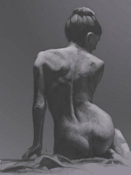 Female Seated Study by kynlo