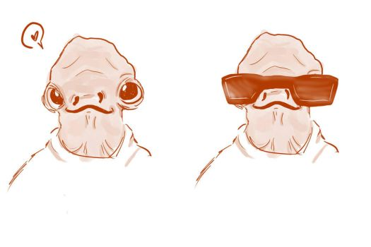 Cool Dude Ackbar by LadyoftheQ