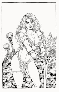 Red Sonja by Eduardo Garcia by Pendecon
