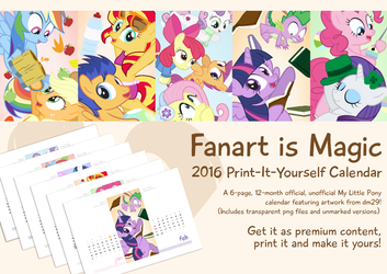 Fanart is Magic: 2016 Print-It-Yourself Calendar by dm29