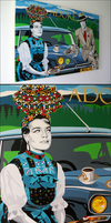 Pop Art Canvas - Adore by h1xndesign