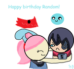 Happy birthday Random! by Azurilla12
