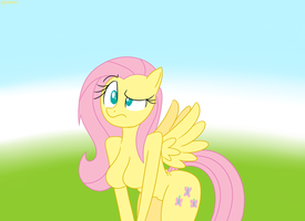 Confused Anthro Fluttershy by MysteryFanBoy718