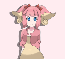Pokemon BW - Audino Gijinka  by chocomiru02