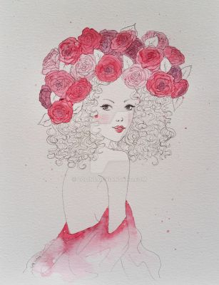 Roses girl by Loline