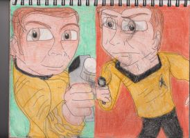 Kirk with Phaser by RozStaw57