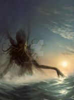 Awakening of Cthulhu by Obrotowy