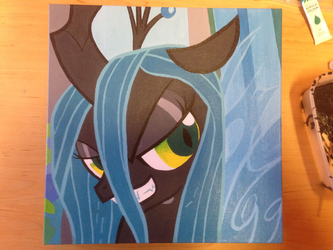 Queen Chrysalis_Canvas by YewDee