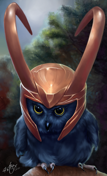 The Owlvengers - Loki Owl by 4steex