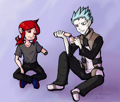 2011: Silver and Cyrus, Mechanical Arm by kat-reverie