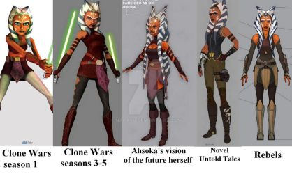 Ahsoka Tano evolution collage by Narayu