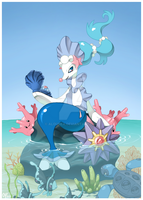 Primarina and co by AlouNea
