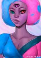 Cotton Candy Garnet by ROGUEKELSEY