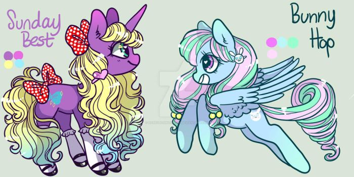 Easter Adoptables, CLOSED by HoneyBonnieBunny