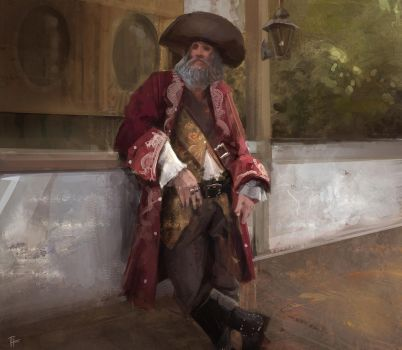 Pirate painting study by Hilaz