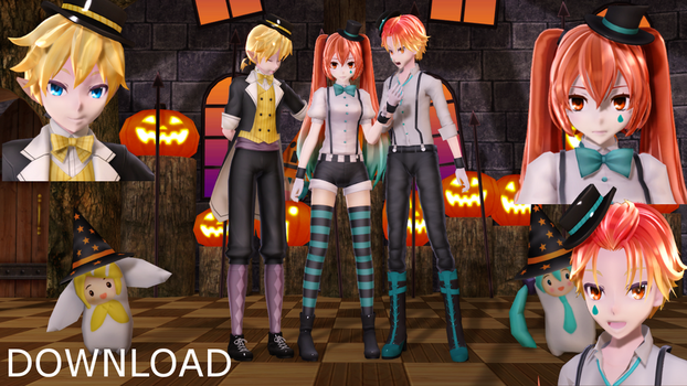 [MMD MODELS / STAGE+DL] Halloween Pack by 01mikuxlen02
