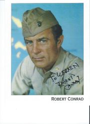 Robert Conrad's Autograph by wemayberry