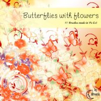 Butterflies with Flowers by Coby17