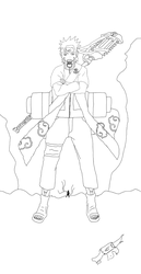 Naruto Sage Puppet - Lineart by Wollack